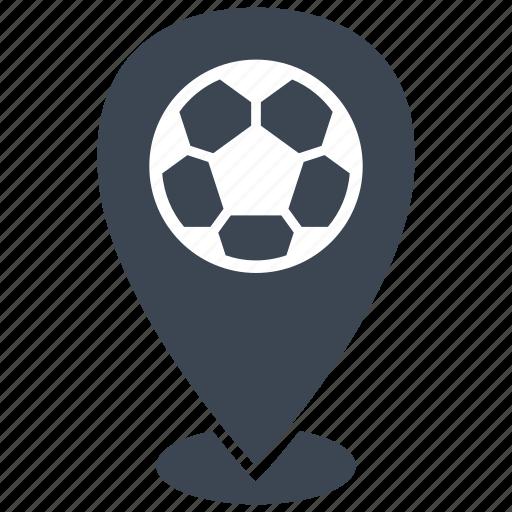 football, location, match, soccer icon