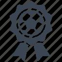 award, medal, prize, soccer icon