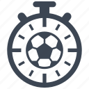 soccer, stopwatch, timer, training icon