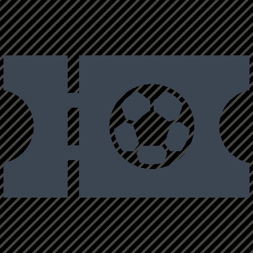 football, soccer, ticket icon