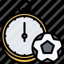 ball, football, player, soccer, sport, stopwatch, time