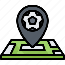 football, location, map, pin, player, soccer, sport icon