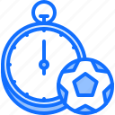 ball, football, player, soccer, sport, stopwatch, time icon