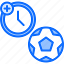 extra, football, match, player, soccer, sport, time icon