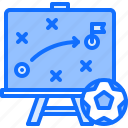 blackboard, board, football, player, soccer, sport, strategy icon