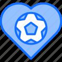ball, football, heart, love, player, soccer, sport icon