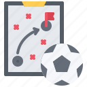 ball, football, player, soccer, sport, strategy, tablet icon