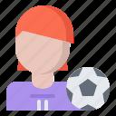 ball, football, player, soccer, sport, woman