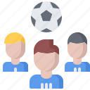 ball, football, group, player, soccer, sport, team icon