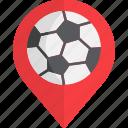 football, location, pointer, soccer, stadium