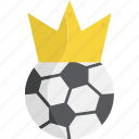 ball, champion, crown, football, soccer, sports, winner icon
