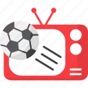 broadcast, football, soccer, sport, sports, television icon