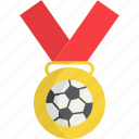football, medal, soccer, sport, sports, winner icon