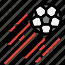 ball, football, shoot, soccer, sport
