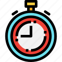 football, soccer, sport, stop, time icon