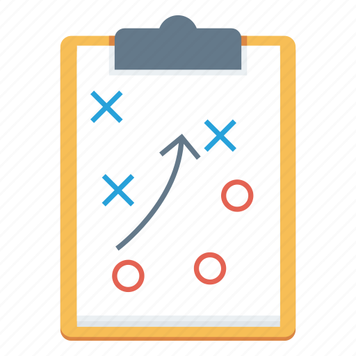 clipboard, game, planning, sport, strategy icon