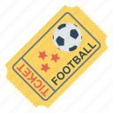 event, football, game, soccer, ticket icon