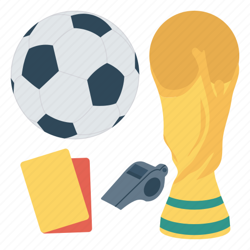 redcard, referee, soccer, trophy, whistle icon
