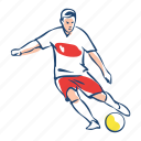 athlete, ball, football, player, poland, soccer, sport icon