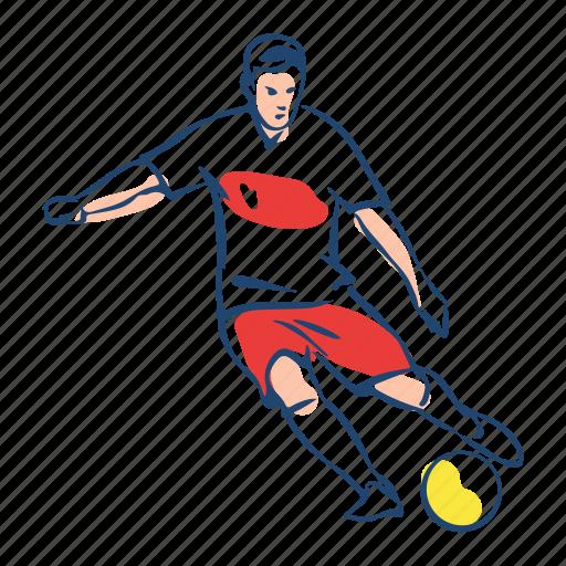 athlete, ball, football, player, poland, soccer, sport icon