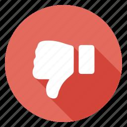 dislike, download, rate, risk, thumb, unlike, vote down icon