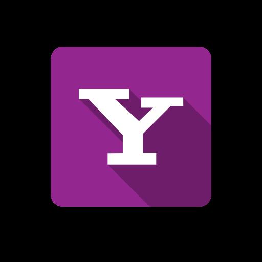 box, lilac, social, yahoo icon