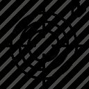 aim, dartboard, focus, goal, mission, targeting icon