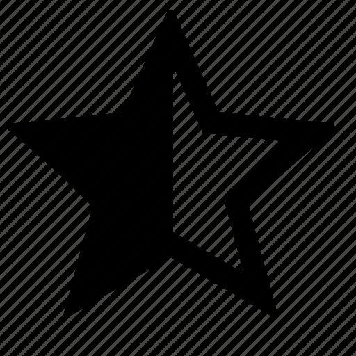 emotion, half, social, star, web icon