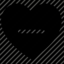 dislike, emotion, like, love, minus, web icon