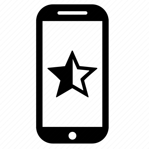 activity, half, mark, mobile, star, web icon