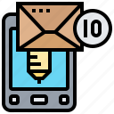 additive, mail, message, spam, text icon