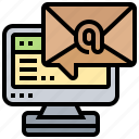 communication, email, inbox, message, online icon