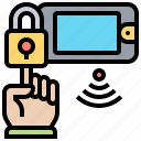 access, fingerprint, lock, security, verification icon