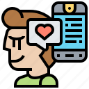 follower, like, love, media, social icon