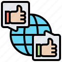 connection, global, network, online, worldwide icon