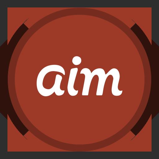 aim, social icon