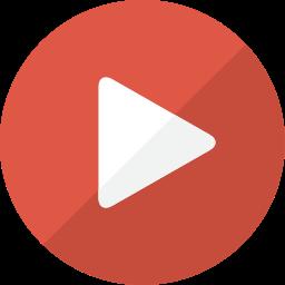 arrow, camera, film, movie, multimedia, play, player, social, social media, video, youtube icon