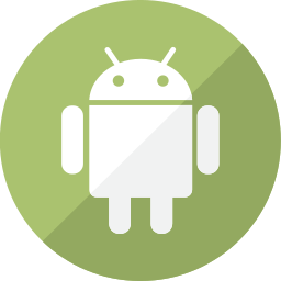 android, communication, mobile, phone, robot, social, system, telephone icon