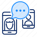chat, message, mobile