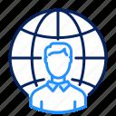 man, network, profile icon