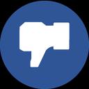 blue facebook, dislike, facebook, facebook dislike, facebook like, like icon