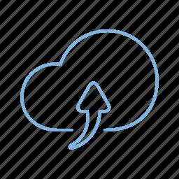 cloud, network, storage, upload icon