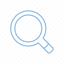 magnifier, research, search, zoom icon