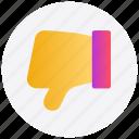 down, social media, thumb, unlike, vote icon