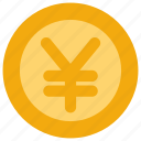 coin, money, yen