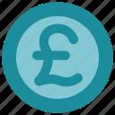 coin, money, pound icon