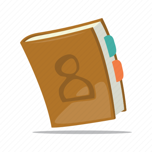 address book, contact book, contacts, phone book icon