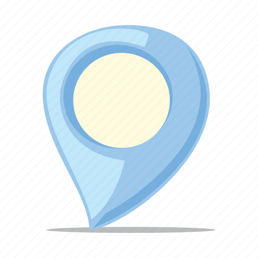 location, map pin, navigation, pointer icon