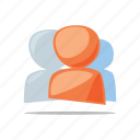 friends, social media, team, users icon
