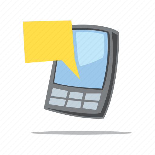 message, mobile phone, sms, speech bubble icon